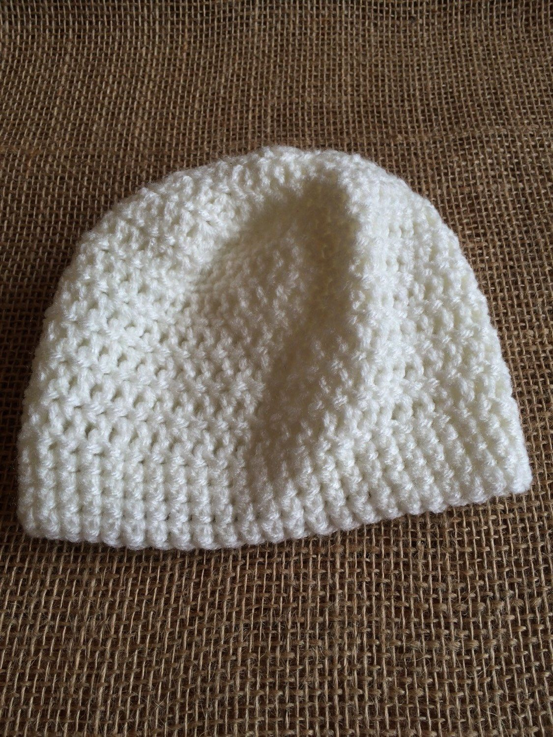 A personal favorite from my Etsy shop https://www.etsy.com/listing/235358241/cream-slouchy-hat-size-0-9-months