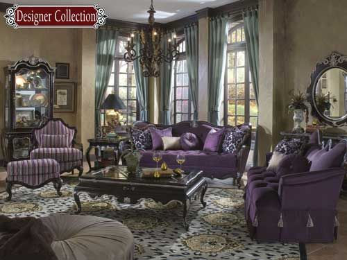 purple twist on classical french design