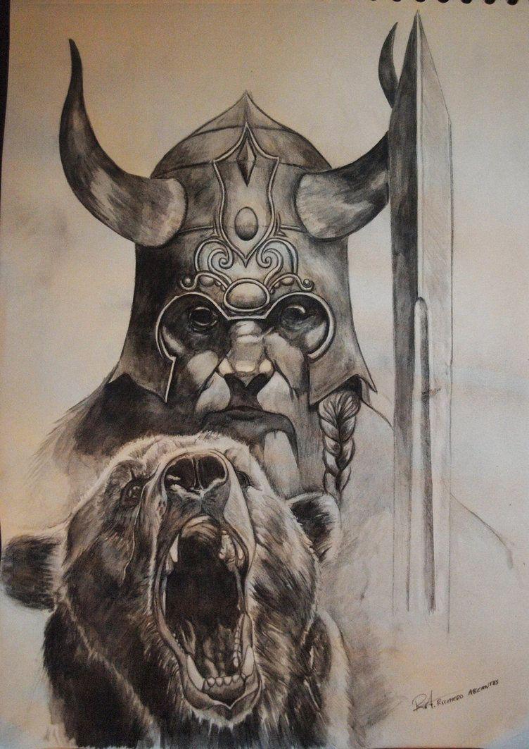 Cool viking warrior drawings