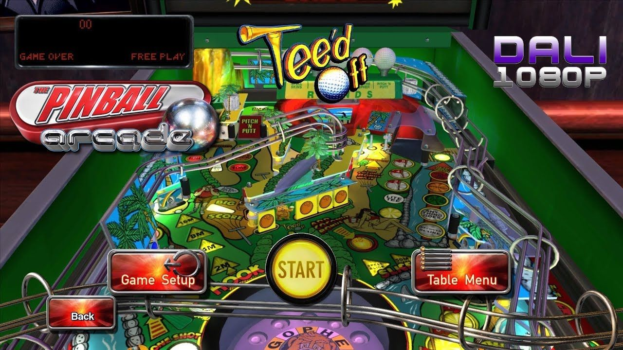 The Pinball Arcade Tee'd Off PC Gameplay 1080p 60fps