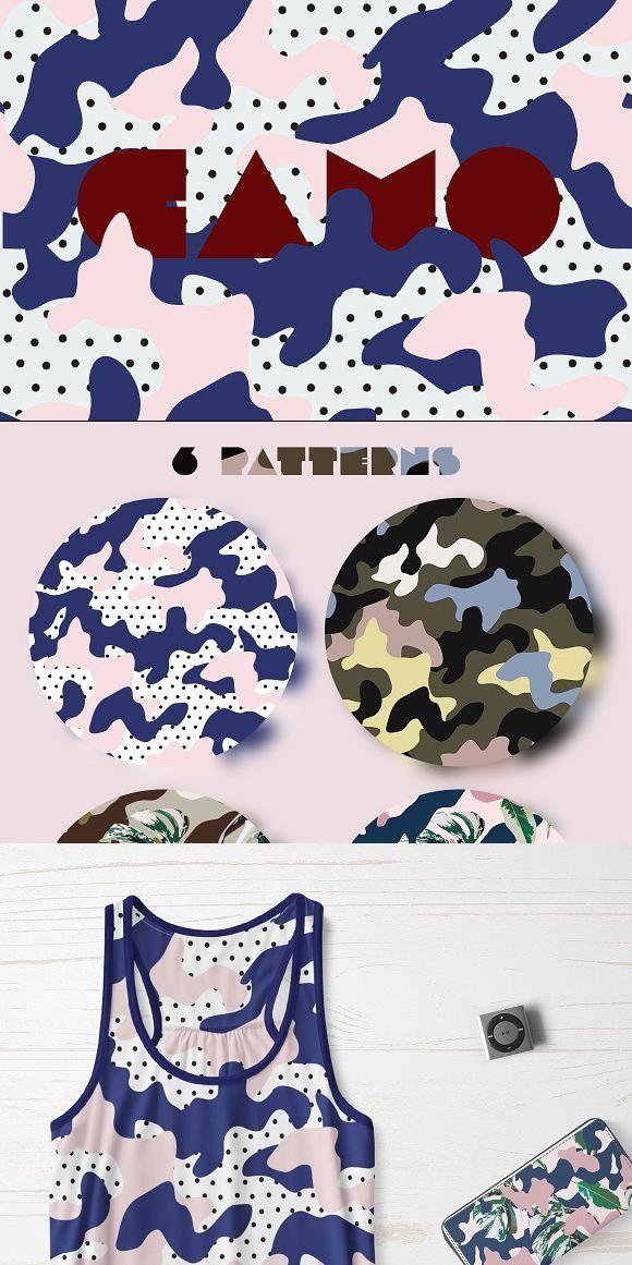 Camo. Pattern set Hand drawn logo, Camo designs, Surface