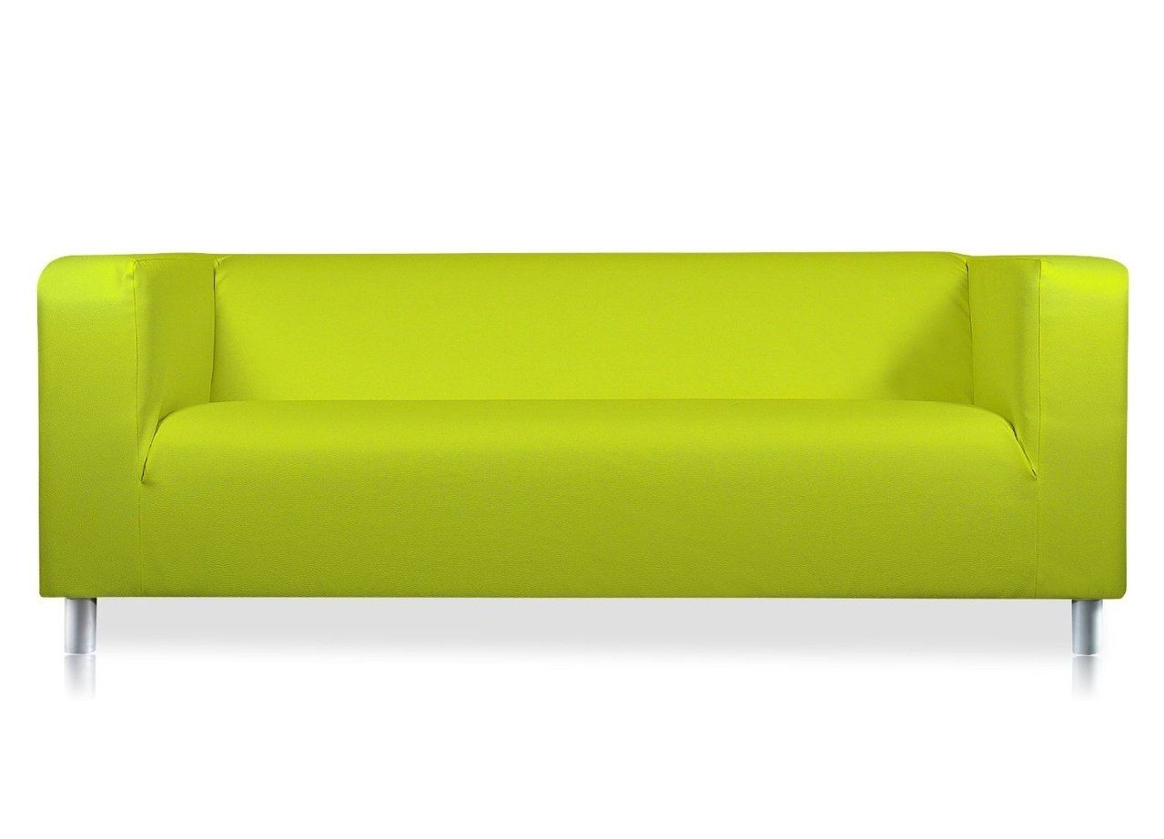 Exceptionnel Lime Green Faux Leather Sofa