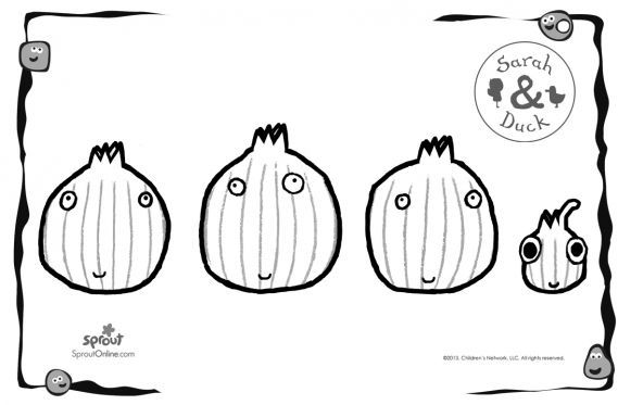 Shallots Coloring Page – Sarah & Duck Coloring Pages for Kids ...