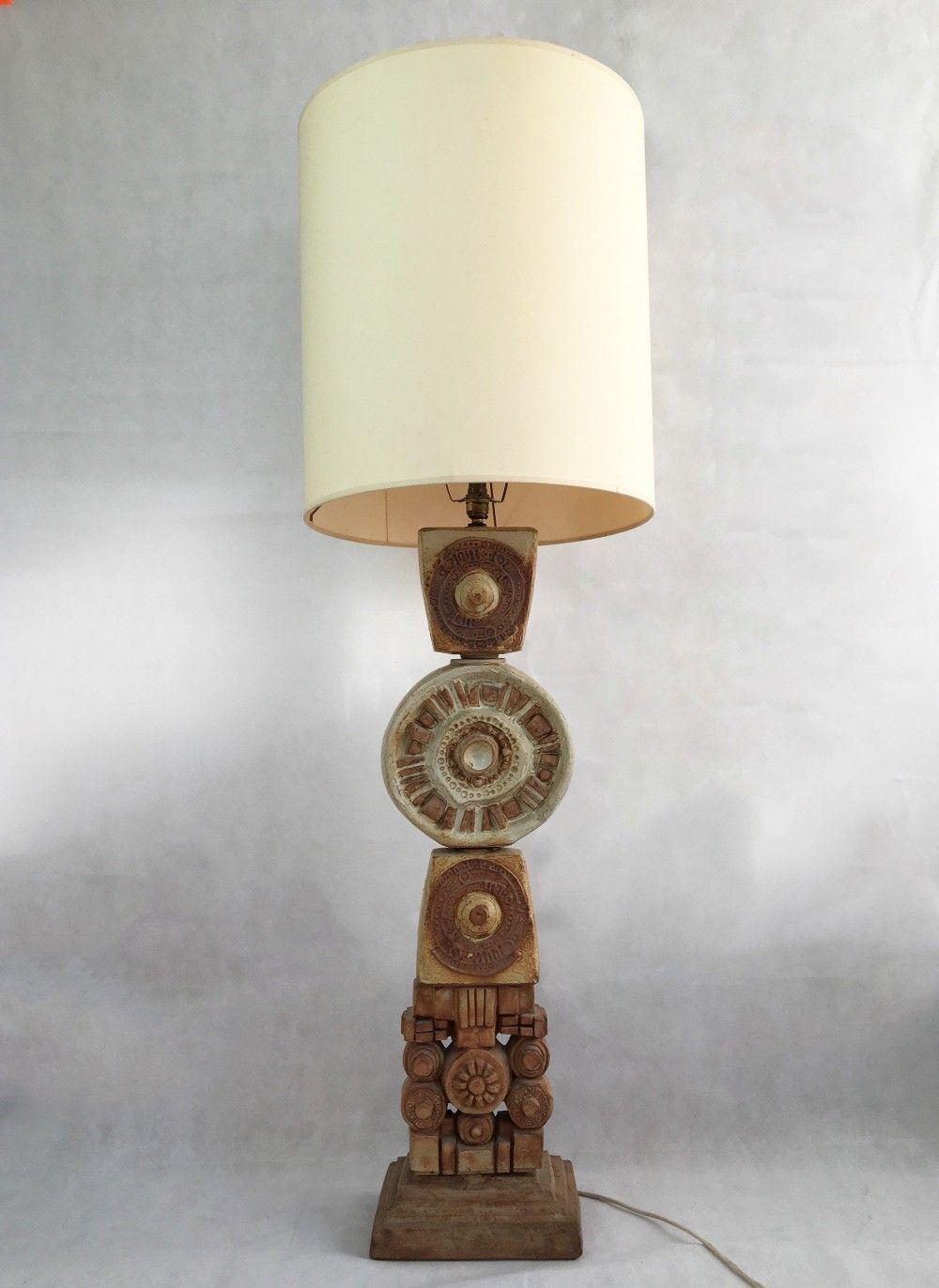 For Sale Large Ceramic Totem Floor Lamp From Bernard Rooke Studio C 1970 Lamp Hanging Floor Lamp Floor Lamp