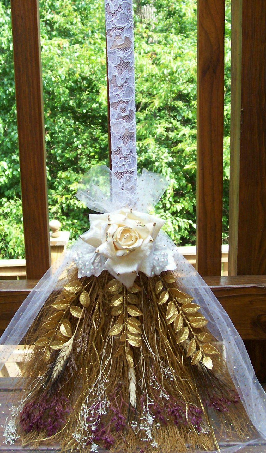 Jumping The Broom Wedding Brooms Unity Candles African American Weddings