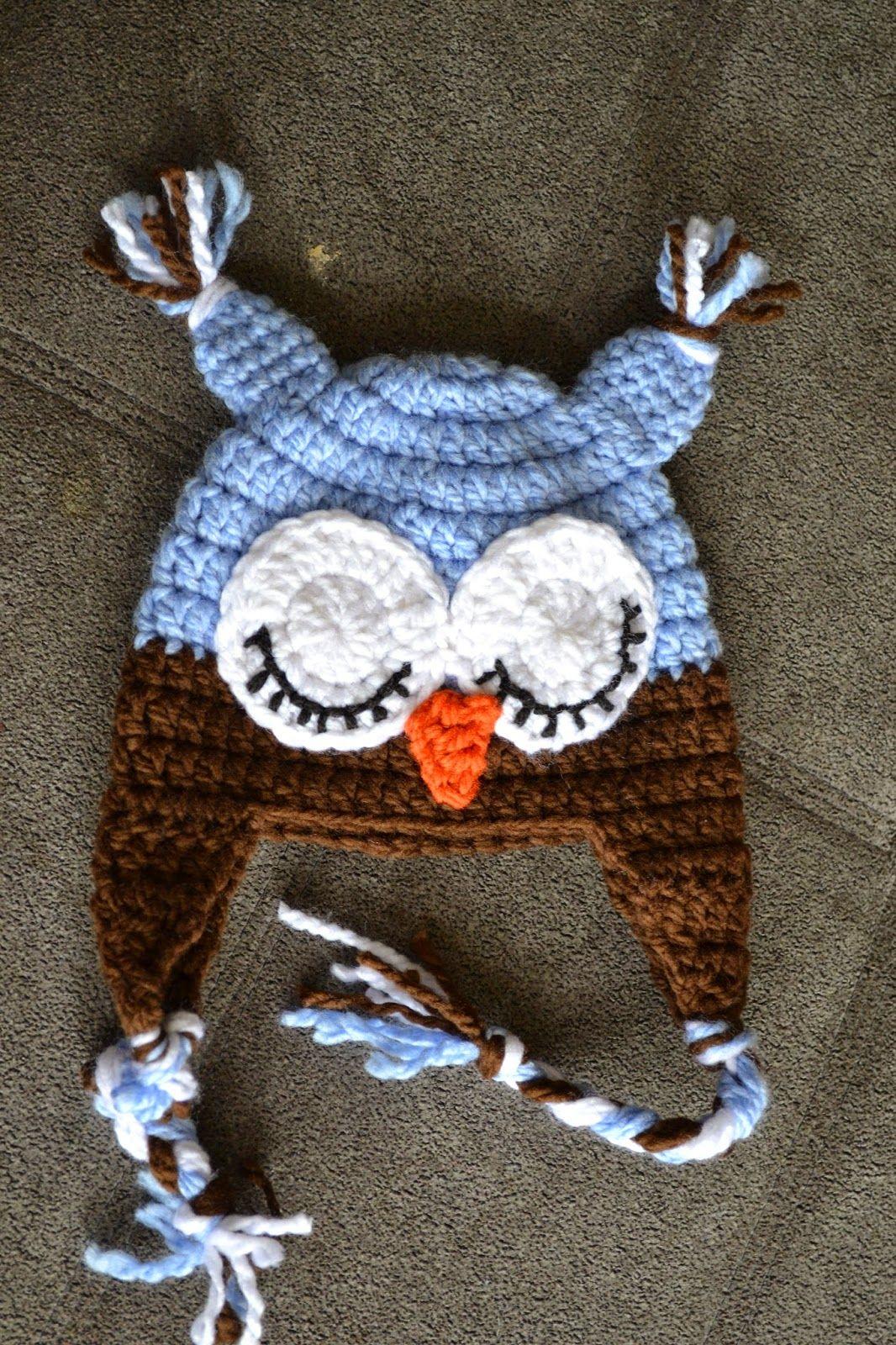 Crochet Owl Hat | crochet owls | Pinterest | Gorros, Búhos de ...