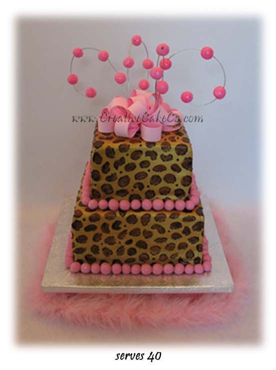 leopard print baby shower leopard print with pink accents 2 tier baby shower cake ree