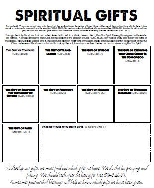 photo relating to Free Printable Spiritual Gifts Test titled Pin upon Yw