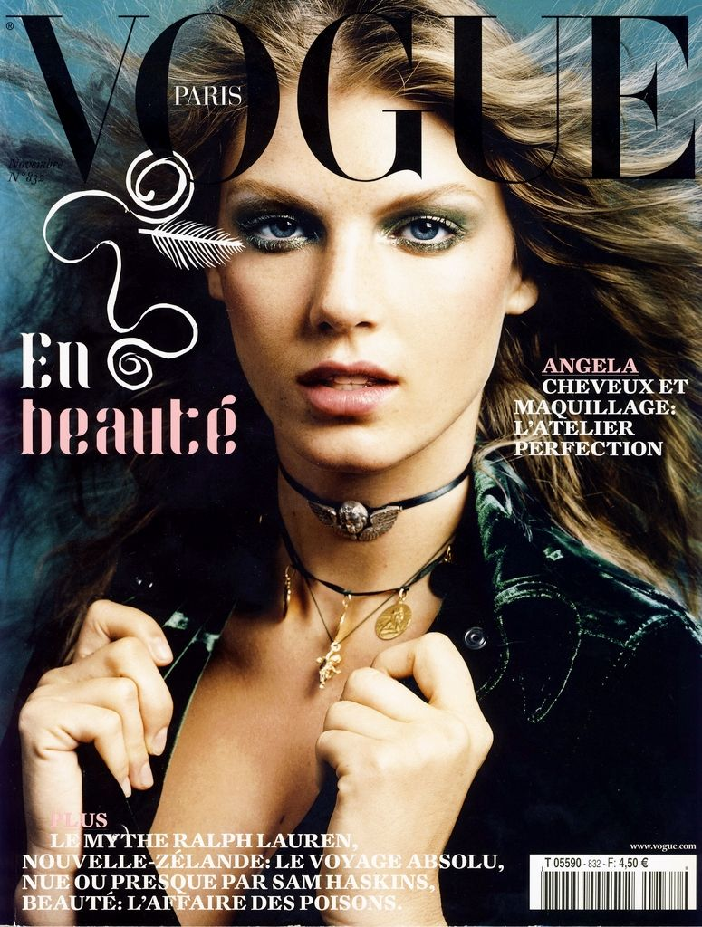 Angela Lindvall Throughout the Years in Vogue Vogue