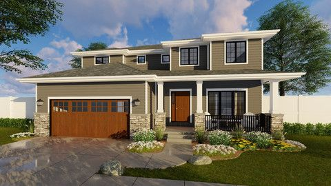 the kincaid is a 2 story house plan the craftsman front