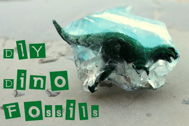 DIY Dino Fossils with ice