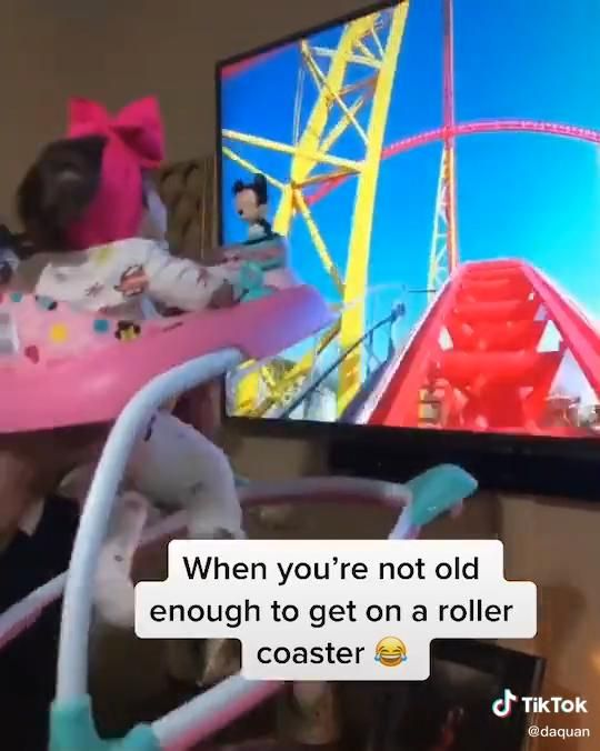 When you're not old enough to get on a roller coas