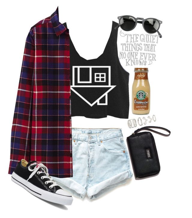 """""""Dreaming of Summer Sun"""" by daynalynnae ❤ liked on Polyvore featuring Levi's, Uniqlo, Victoria's Secret, Victoria's Secret PINK, Oliver Peoples and Forever 21"""