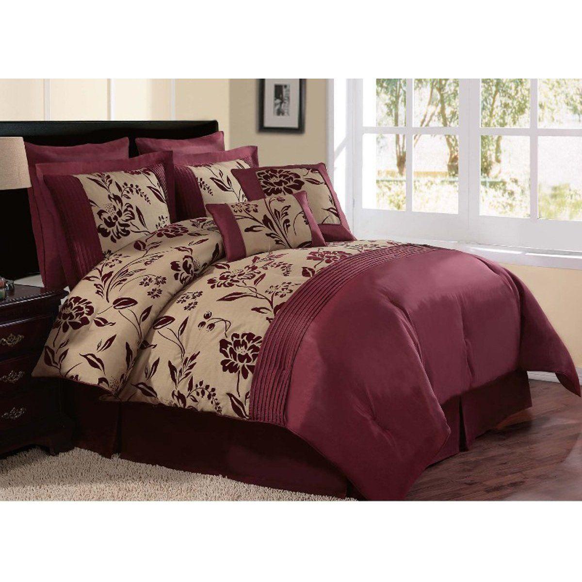 Victorian Classics Burgundy Comforter Set Decoracion De Alcoba