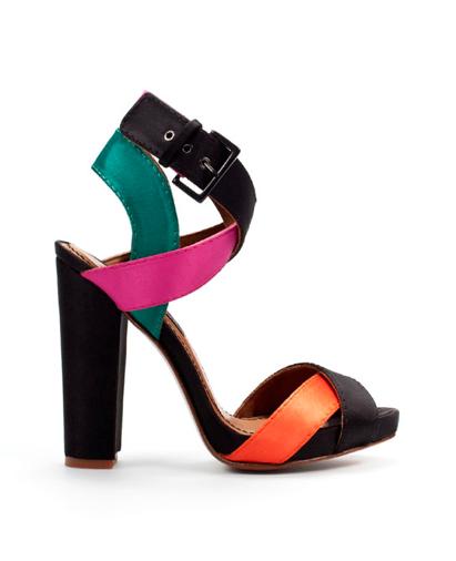 Zara colour block heels