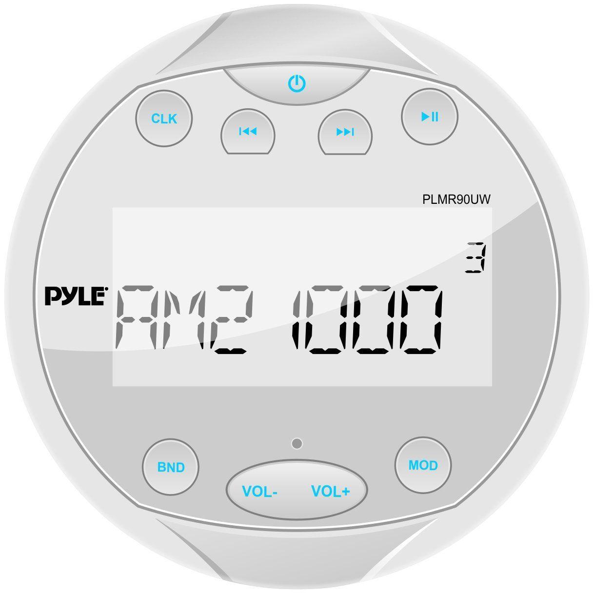 Pyle Plmr90uw Hydra Waterproof Bluetooth Marine Digital Receiver Stereo Radio Usb Mp3 Am Fm Aux Input Click Image For More Usb Radio Marine Stereo Usb Mp3