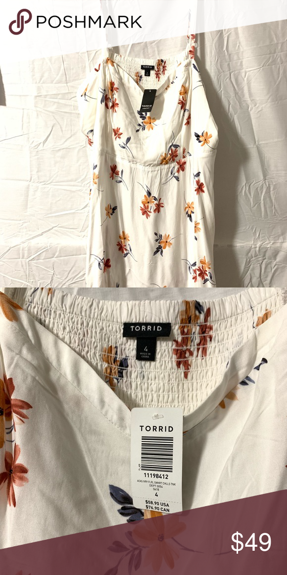 796a260077c I just added this listing on Poshmark  White Floral Torrid Dress.   shopmycloset  poshmark  fashion  shopping  style  forsale  torrid  Dresses    Skirts
