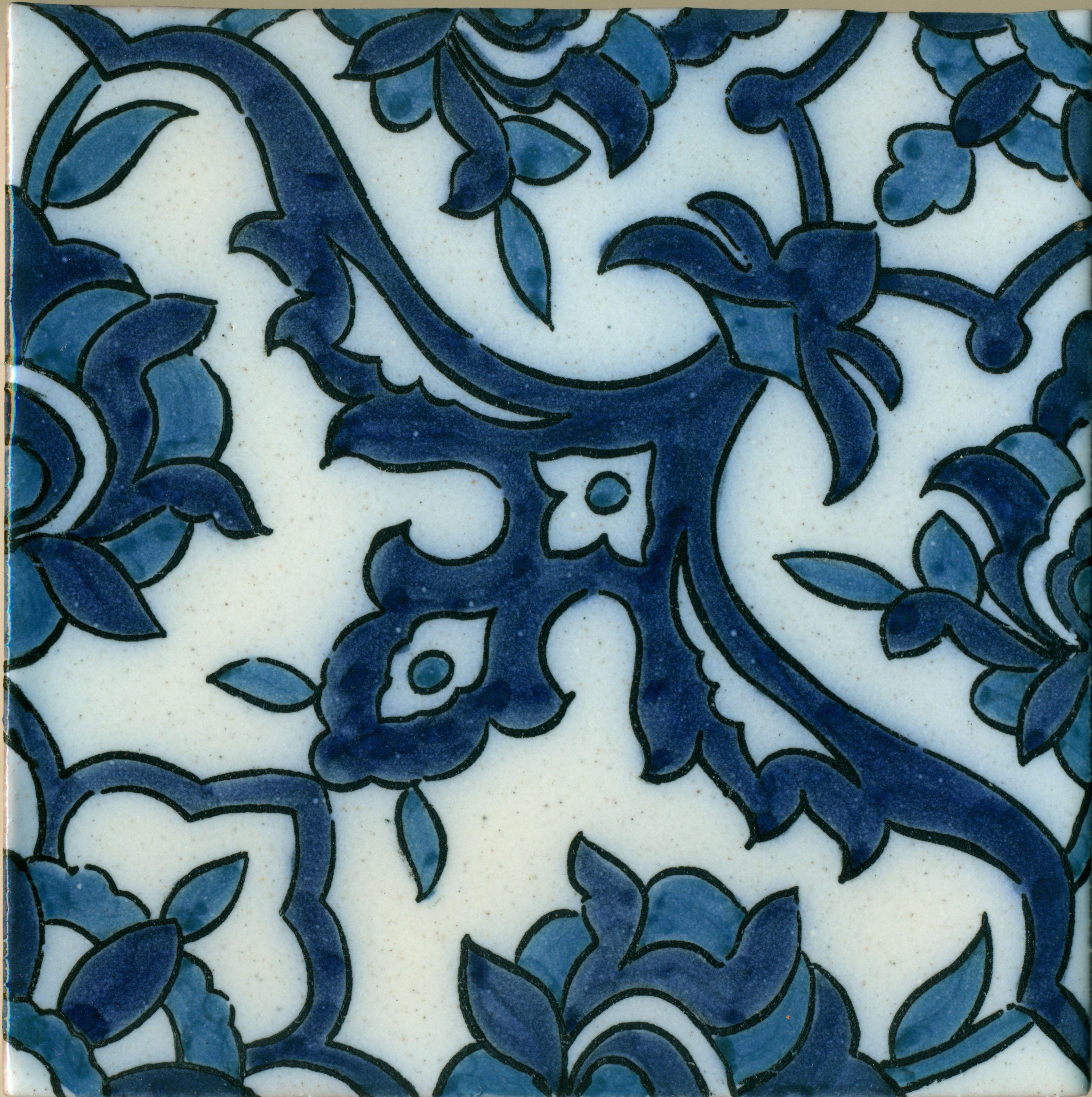 Damascus Blue Tile - antique reproduction