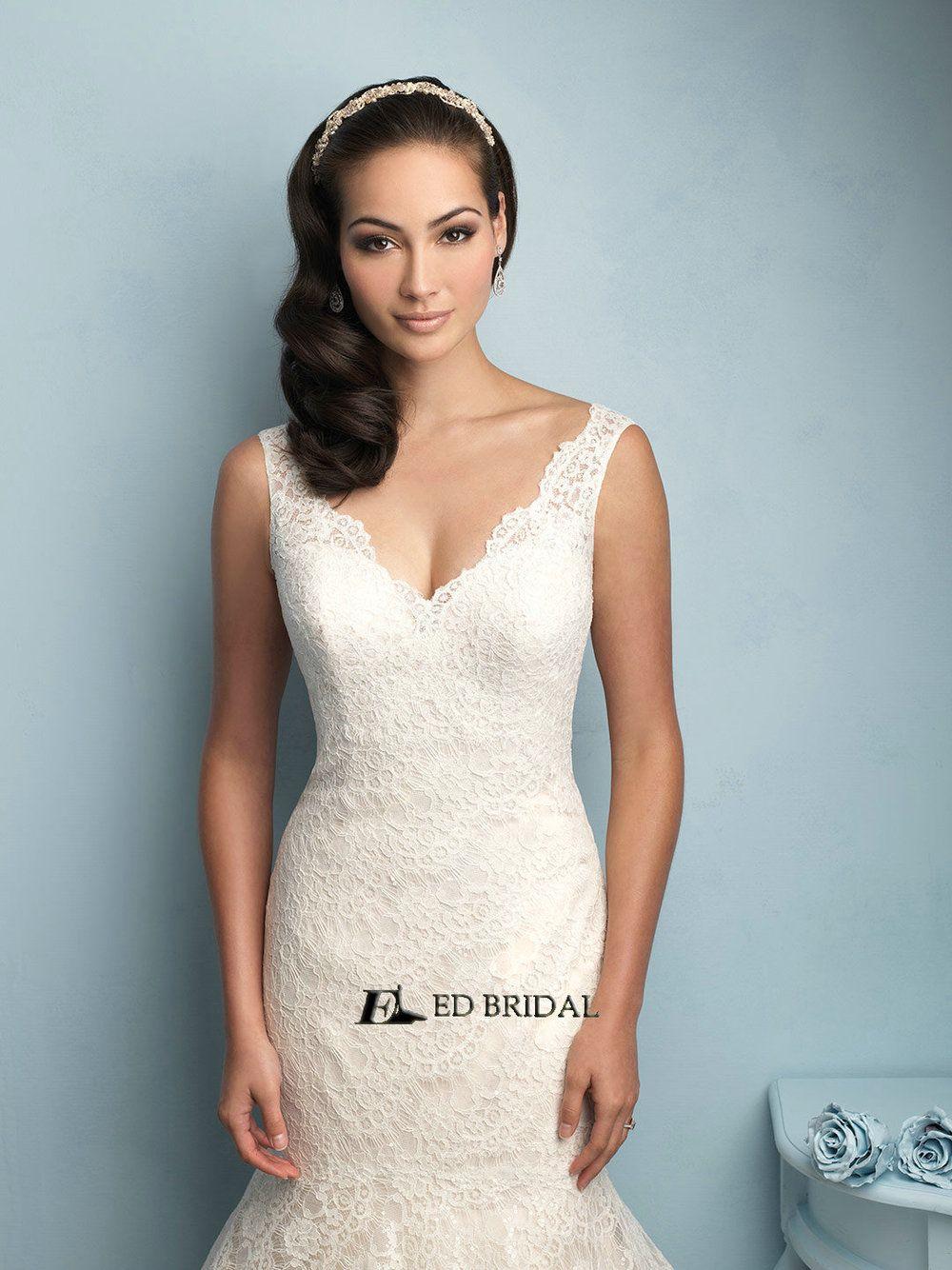ED-YH2259 Vestidos de Novias Lace Appliqued Mermaid Wedding Dresses ...