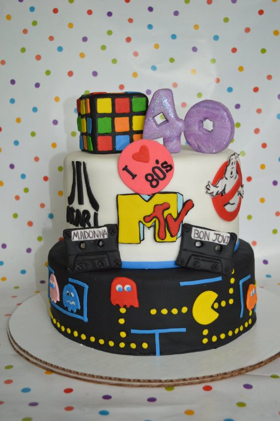 I Heart The 80s Cake Decorating Kit 100 Edible