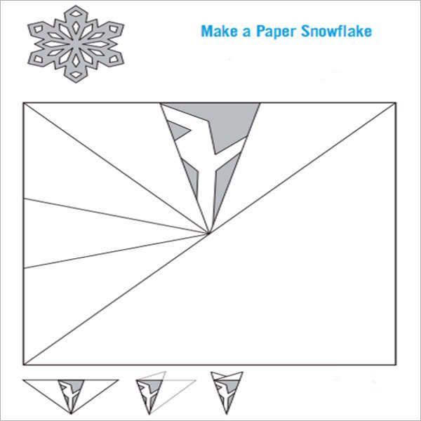 Easy Snowflake Template Christmas Pinterest Snowflake - affidavits template