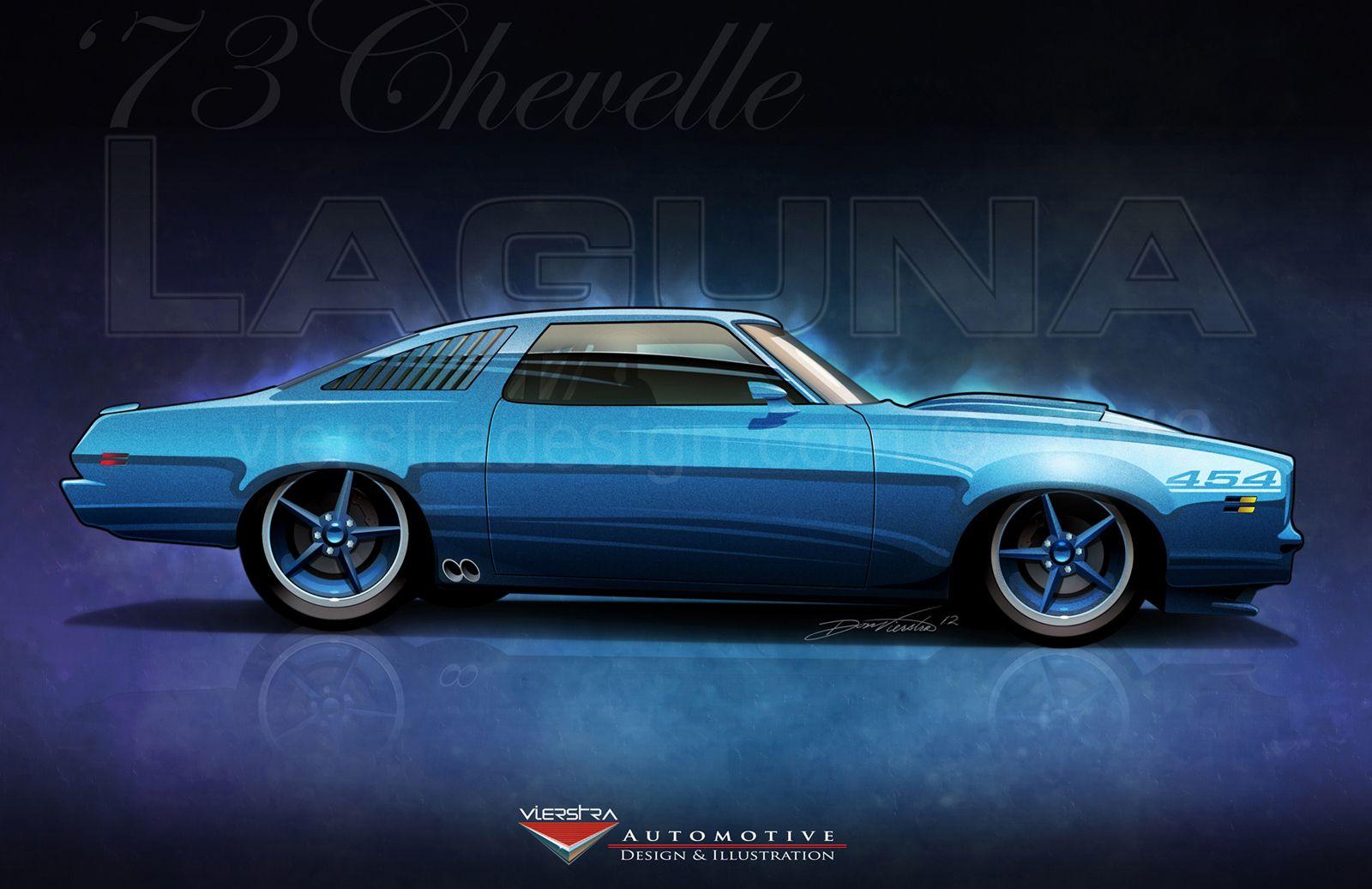 1973 Chevelle Laguna Custom Rendering Vierstradesign Com C 2012