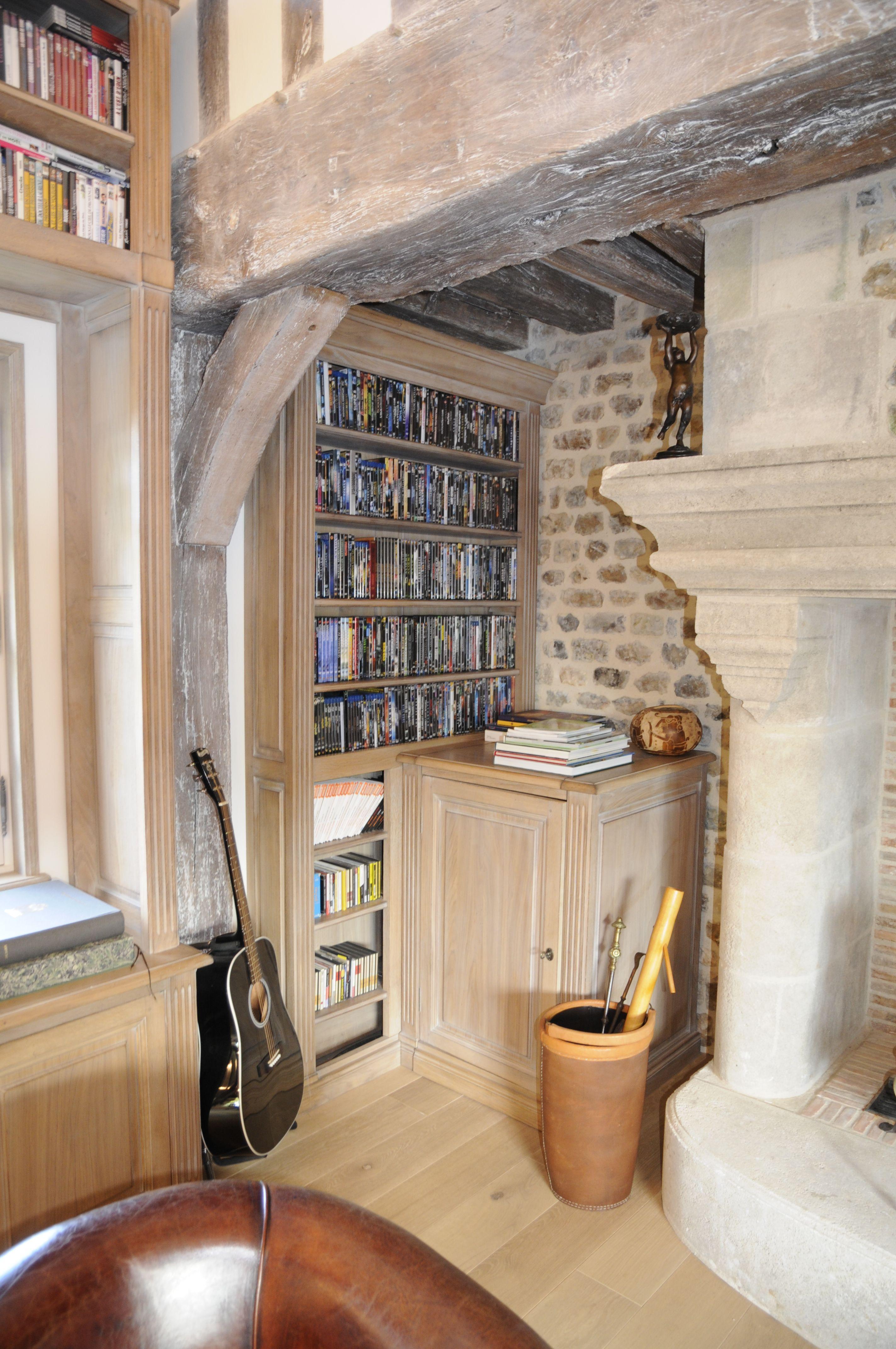 meuble bibliothèque encastrée. création sur mesure. fabrication ... - Cuisine Fabrication Francaise