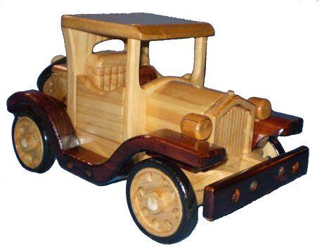 Wooden Model T Ford Coupe Toy Carrinho De Madeira Brinquedos De