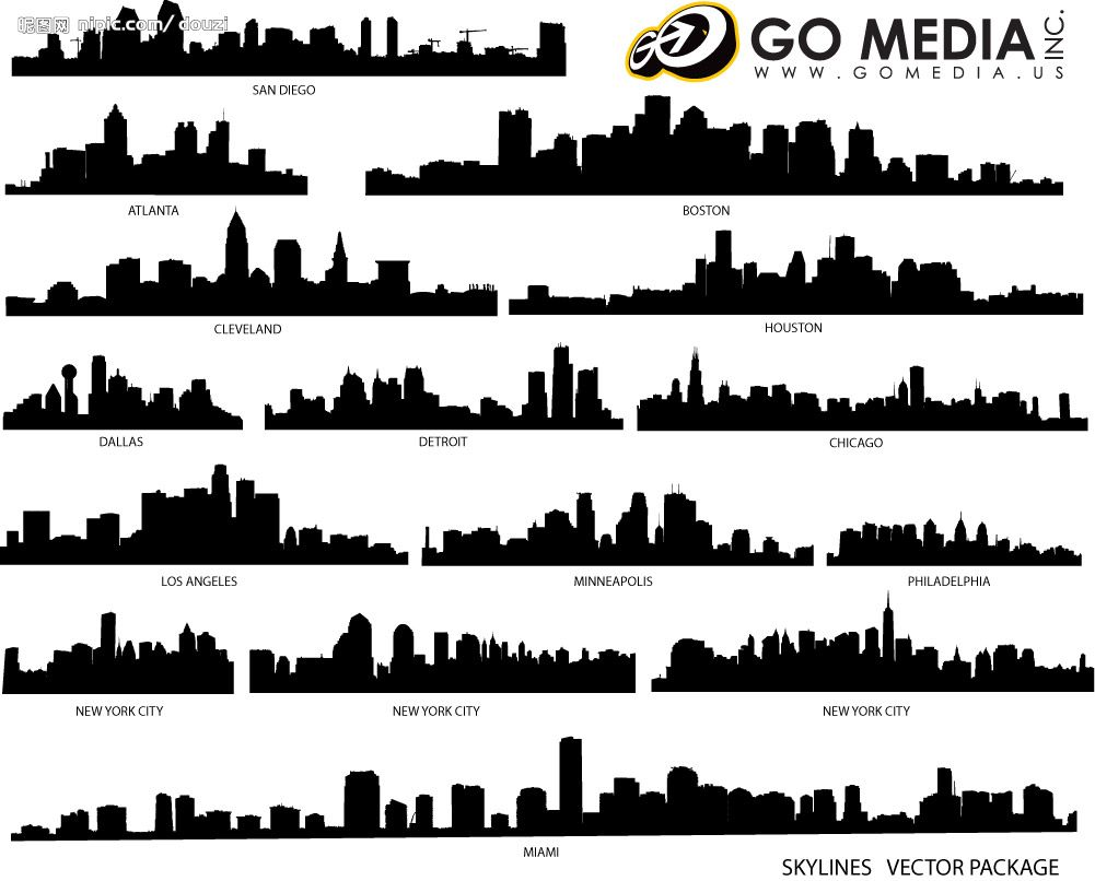 City Line Silhouettes Yahoo Image Search Results City Silhouette Building Silhouette Cityscape Silhouette