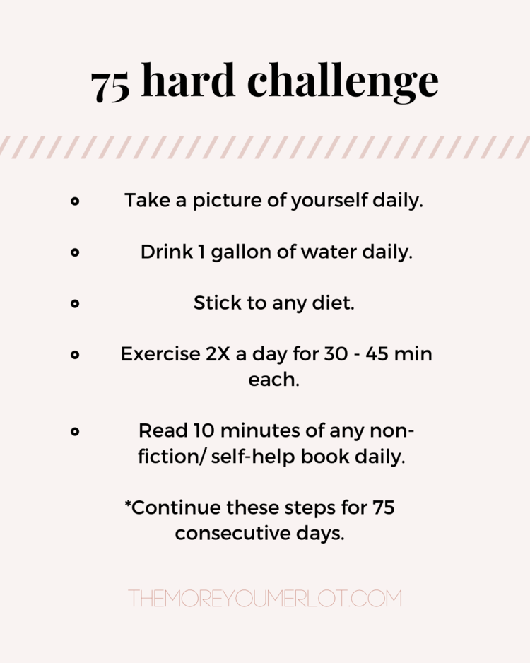 Wellness Let S Do The 75 Hard Challenge Together Fitness Habits Self Improvement Tips Challenges