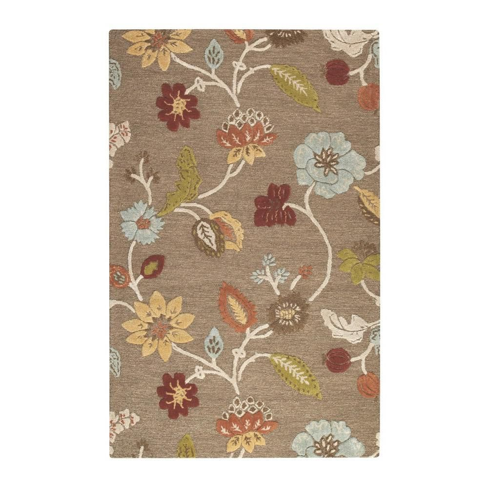 Portico Grey Brown 5 Ft 3 In X 8 Ft 3 In Area Rug Products