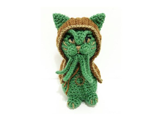 Cthulhu - Occult - Lovecraft - bastet - cat toy - Cat doll ...