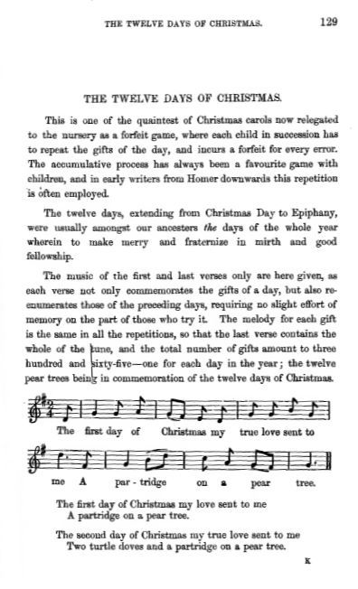 12 days of christmas song lyrics new calendar template site - 12 Days Of Christmas Song Lyrics