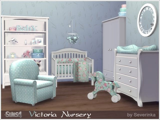 Nursery Room by Severinka | Sims 4 cc möbel, Sims haus ...