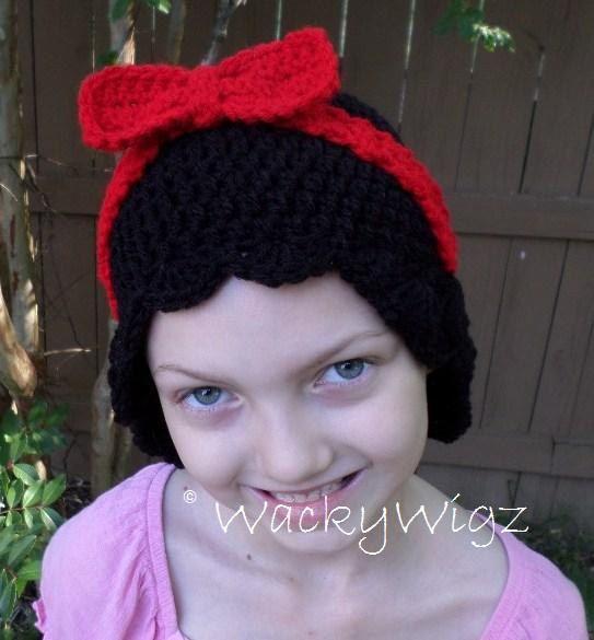 Crochet Black Wavy Wacky Wigz, Yarn Wig, Yarn Hair, Crochet Hat ...