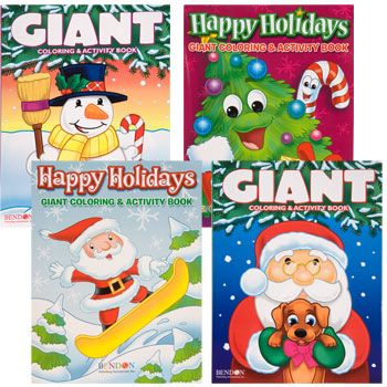 Bulk Christmas Jumbo Coloring & Activity Book, 160 Pages ...