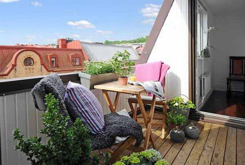 Simple Small Apartment Balcony Design The Best Tips when Planning to - Terrace Design