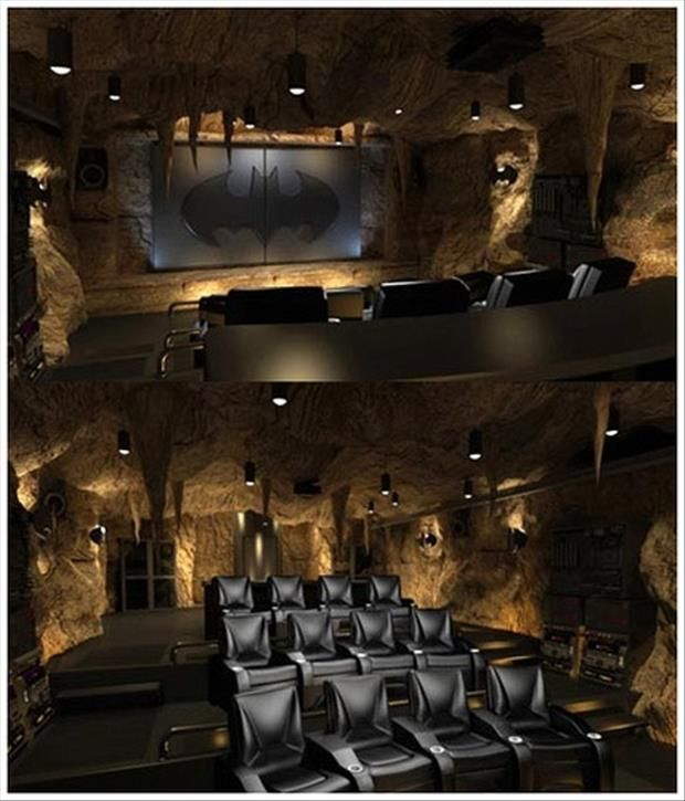 Meanwhile At My Pinterest Home Bat Cave Theater Room
