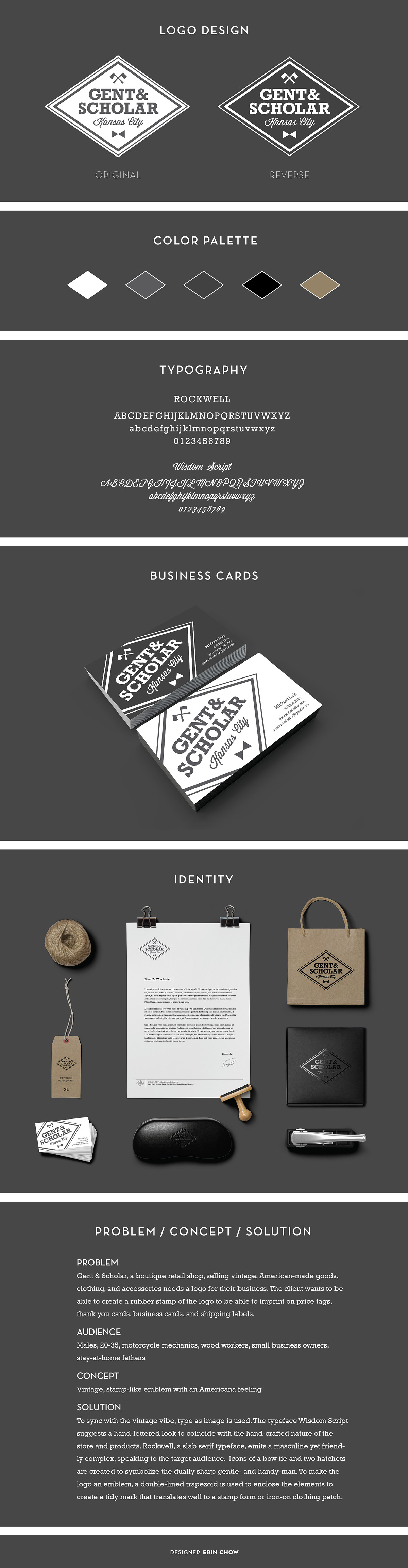 gent scholar logo and business card design on behance