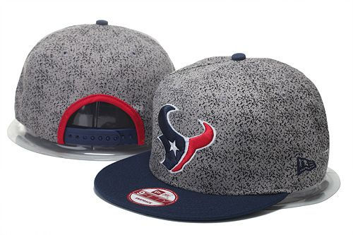 c704b6fdbcc Houston Texans Heather Gray Snapbacks Caps Spec 9FIFTY Cap