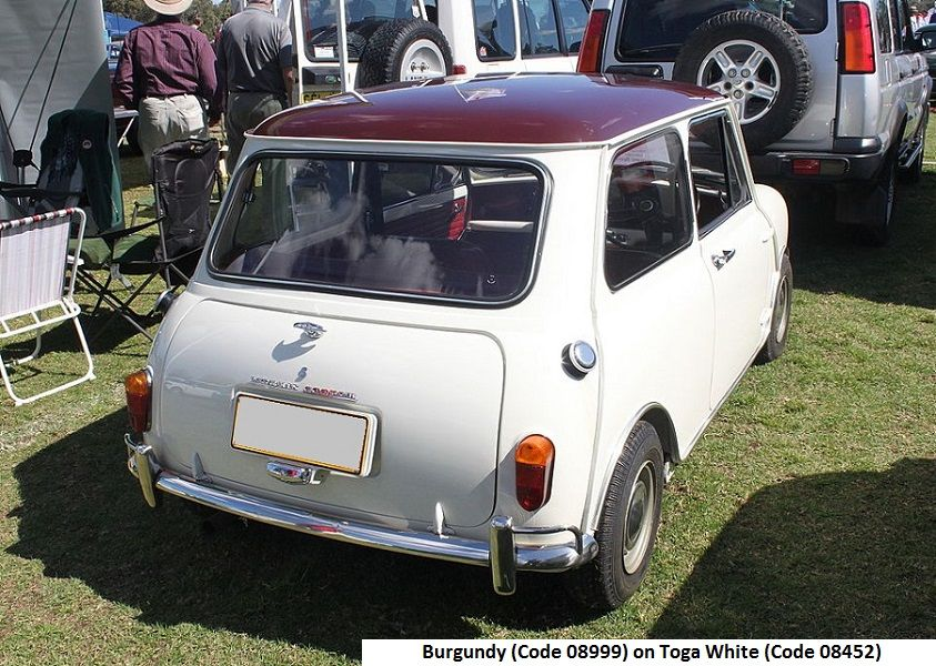 Australian Mk1 Morris Cooper S Burgundy On Toga White Mini Cooper S Mini Cooper Mini Morris