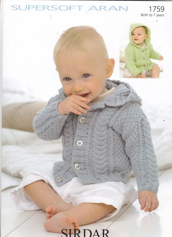 1759 Sirdar Knitting Pattern Baby Toddler by MadelainePatterns ...