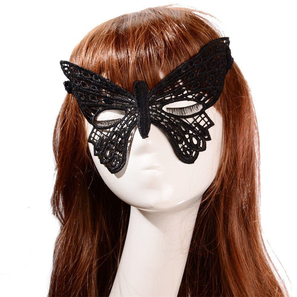 Bestwoohome Hollow Lace Eye Mask Veil for