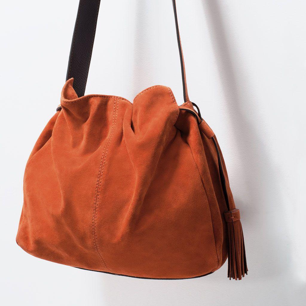 146e57208 ZARA - SHOES & BAGS - Saca Piel Borla | Bolsos - Bags | Pinterest ...