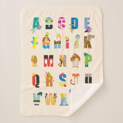 Disney alphabet mania sherpa blanket baby gifts child new born disney alphabet mania sherpa blanket baby gifts child new born gift idea diy cyo special negle Choice Image