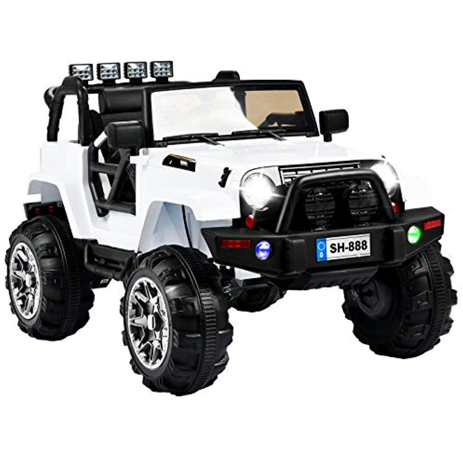 Uenjoy Jeep Wrangler 12v Ride On Car Children S Electric Cars