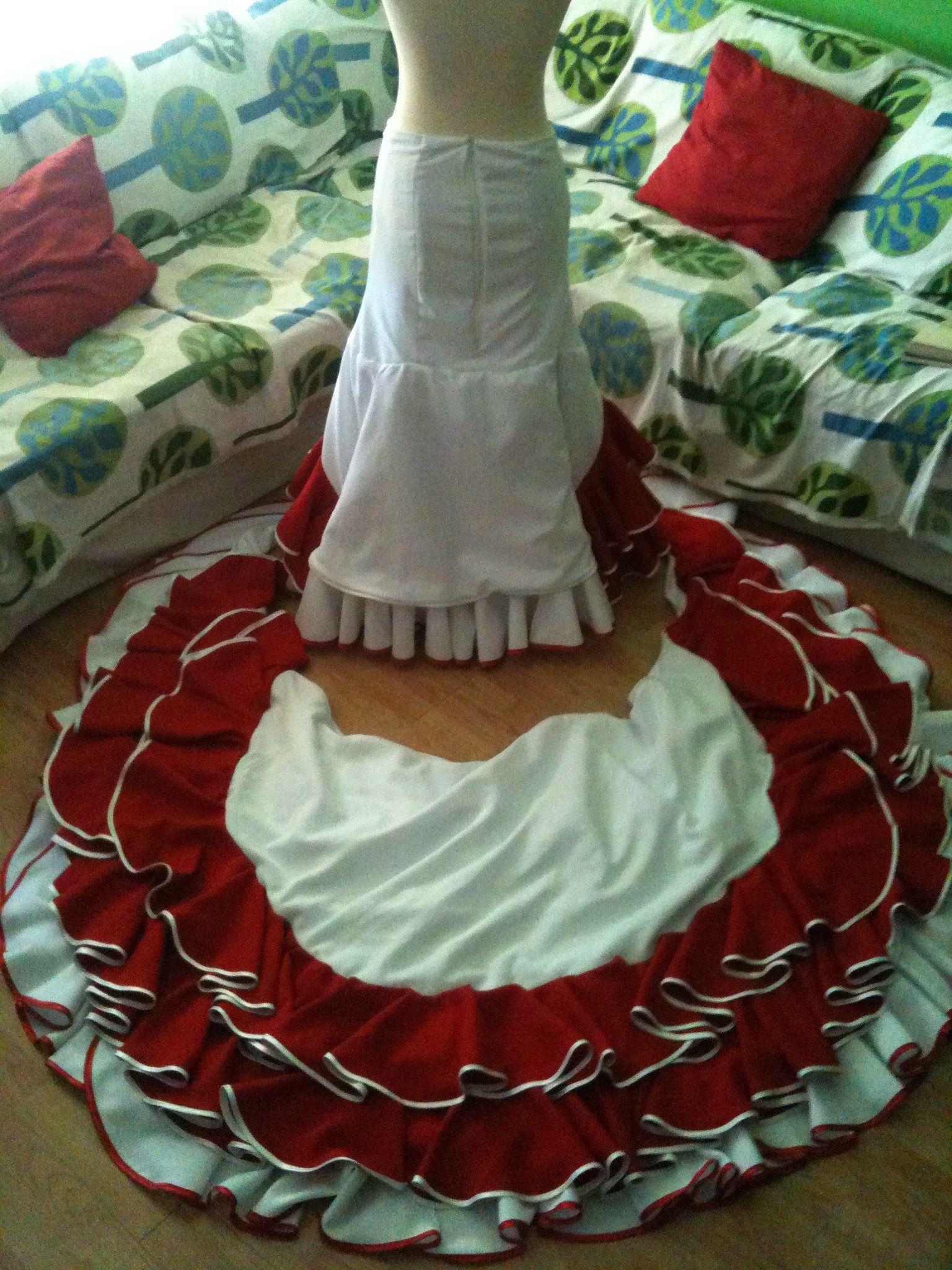 8778e1c60 falda bata de cola - Buscar con Google | vestidos baile español ...