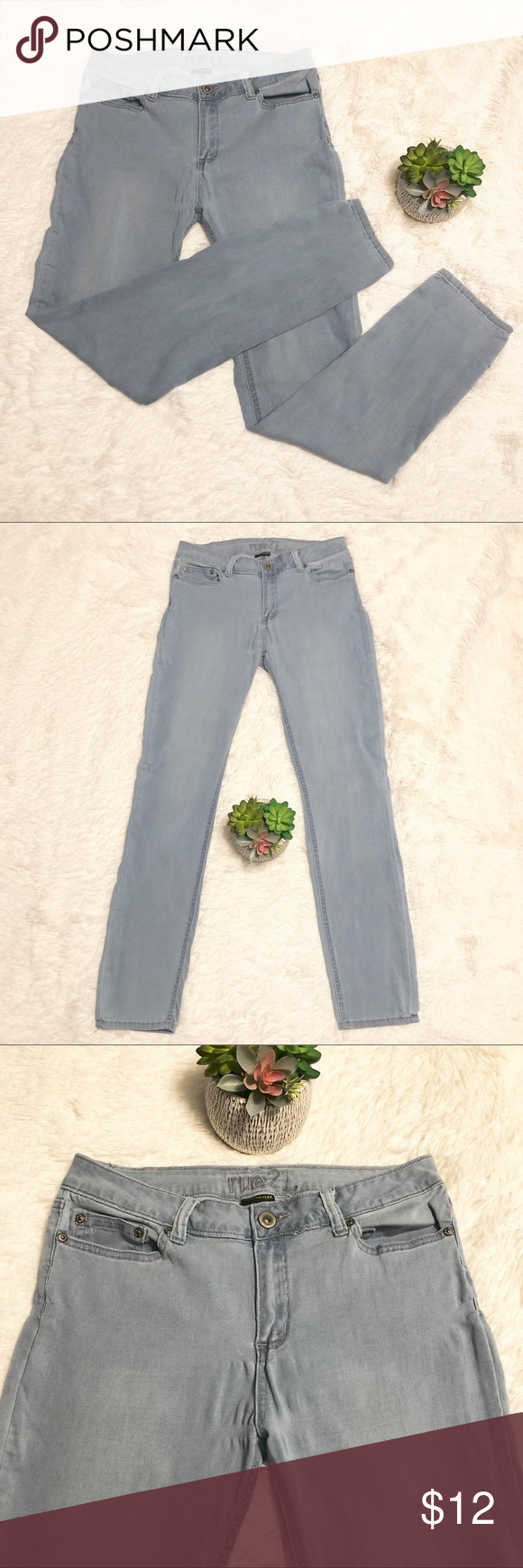 Rue21 Freedom Flex Mid Rise Skinny Jeans Rue21 Freedom Flex Mid Rise Skinny Jeans Cotton Polyester Rayon Spandex Mid Rise Skinny Jeans Skinny Jeans Skinny