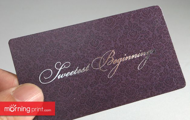 Morningprint business card with rounded corners and glossy silver morningprint business card with rounded corners and glossy silver foil reheart Gallery