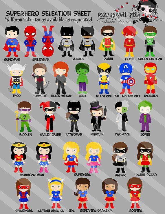 Invitation danniversaire super héros super par KawaiiKidsDesign
